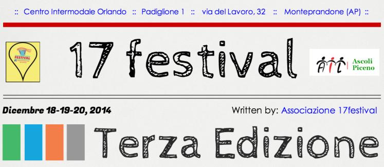 #17festival in un click